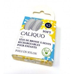 Lot de 2 têtes pour enfant (recharges) Brosse à dents écologique Caliquo