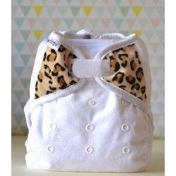 Couche lavable pour la nuit Bi-Best minky Snow Leopard