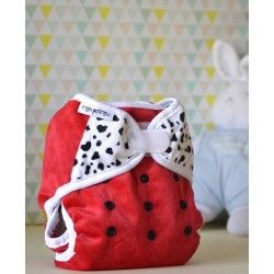 Couche lavable pour la nuit Bi-Best minky Red Dalmatian