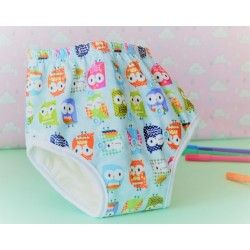 Couche lavable enfant : culotte Hiboux