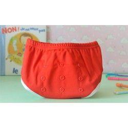 Couche lavable enfant : culotte Rouge