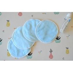 Lingette demaquillante lavable Bleu