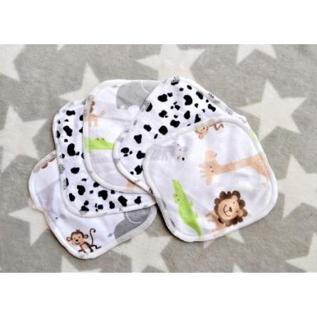 Lot de 5 lingettes lavables bébé micropolaire