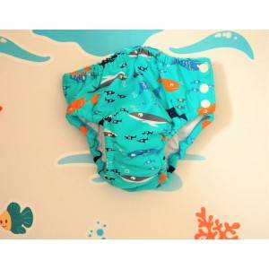 Maillot de bain couche Poissons Bleu