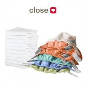 Pack couches lavables Nouveau-né CLOSE