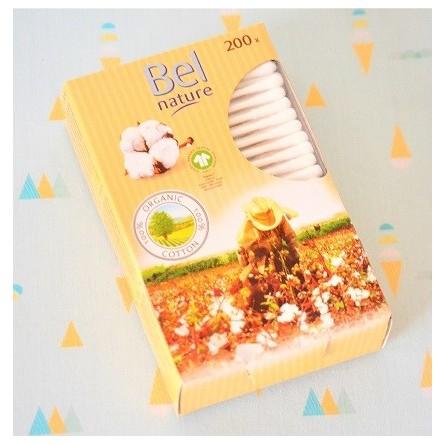 200 Coton tiges écologiques : coton Bio et tige en papier