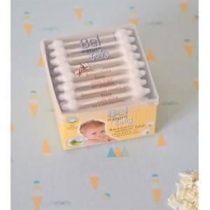 56 Coton tiges bébé écologiques : coton Bio et tige en papier