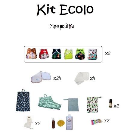 Lot couche lavable Ecolo